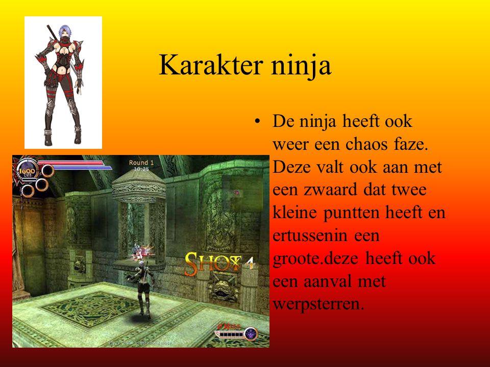 Karakter ninja • •De ninja heeft ook weer een chaos faze.
