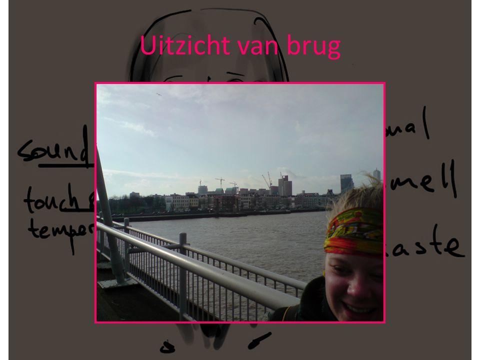 Sharon met blindoek in de tram