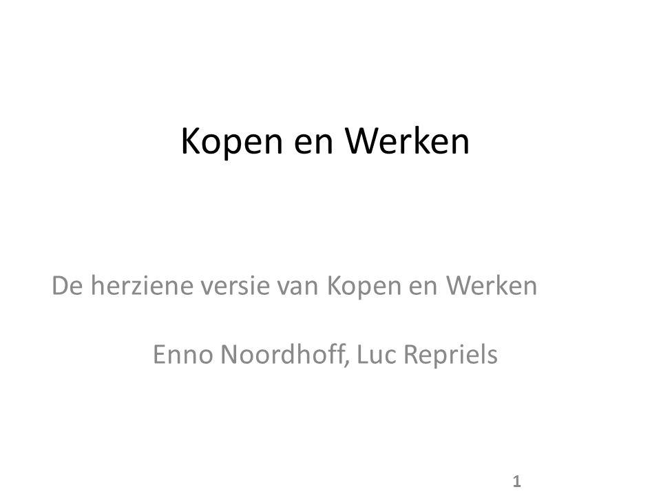 Kopen en Werken De herziene versie van Kopen en Werken Enno Noordhoff, Luc Repriels 1