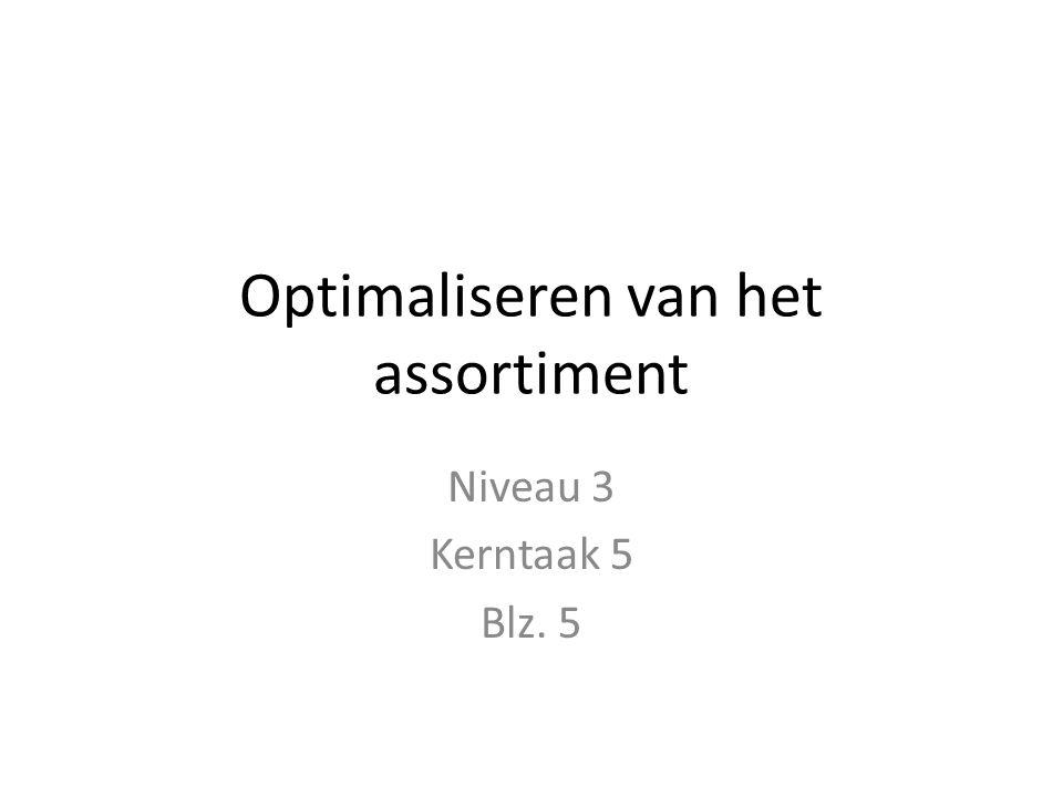 Optimaliseren van het assortiment Niveau 3 Kerntaak 5 Blz. 5