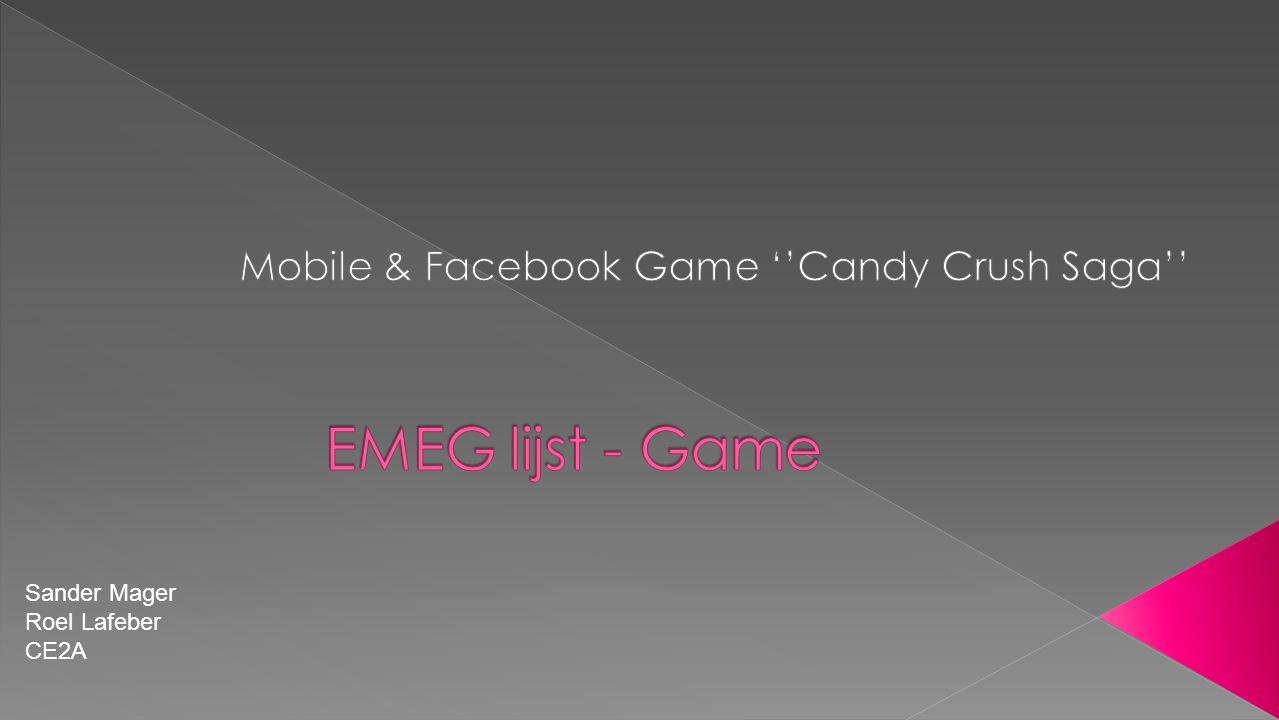 Sinds een aantal maanden ben ik erg fanatiek de game ''Candy Crush'' aan het spelen.