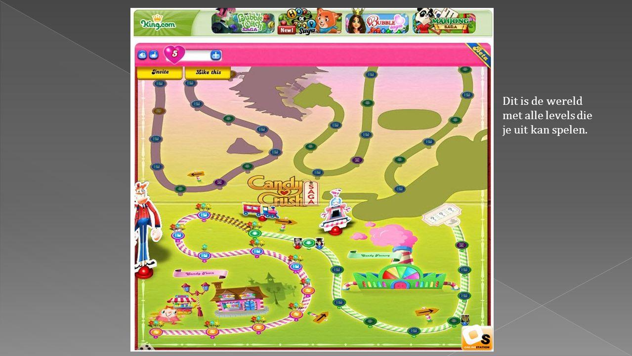 Overzicht gehaalde levelsBegin speelveldEinde speelveld (level volbracht)