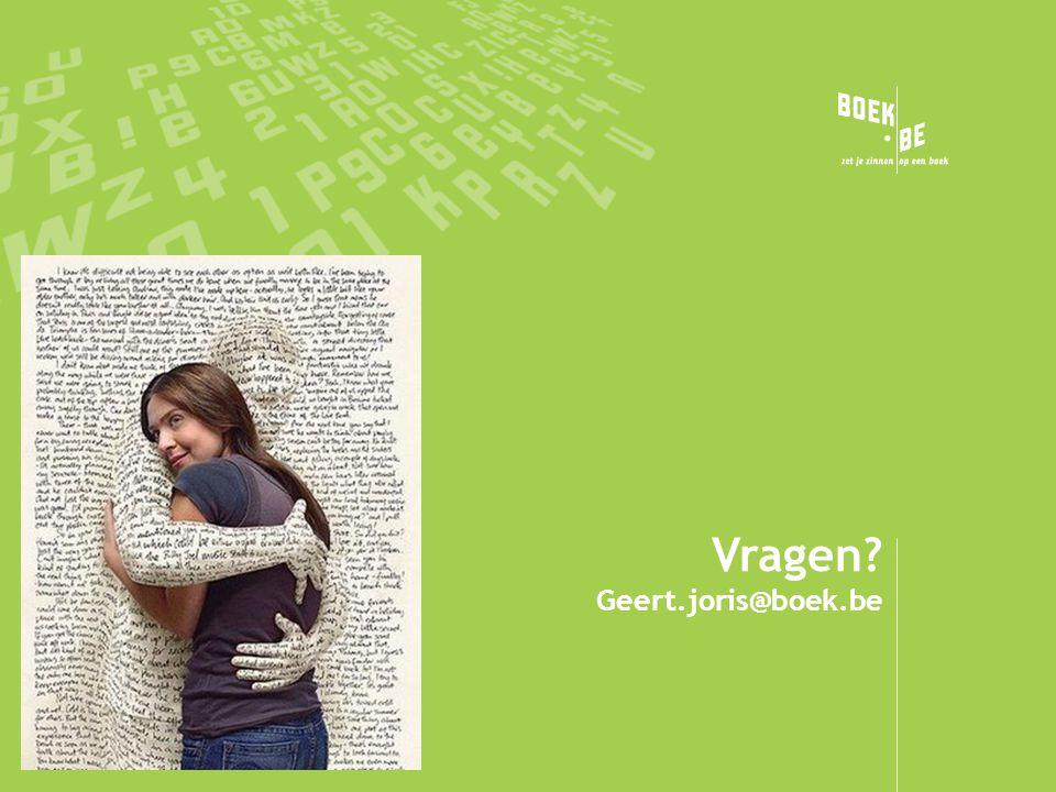 Vragen Geert.joris@boek.be 12