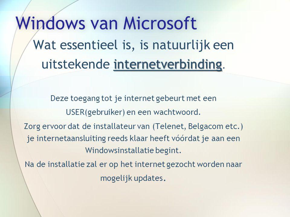 Windows van MicrosoftWindows van Microsoft internetverbinding Wat essentieel is, is natuurlijk een uitstekende internetverbinding.