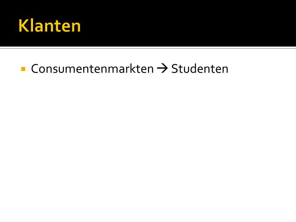  Consumentenmarkten  Studenten