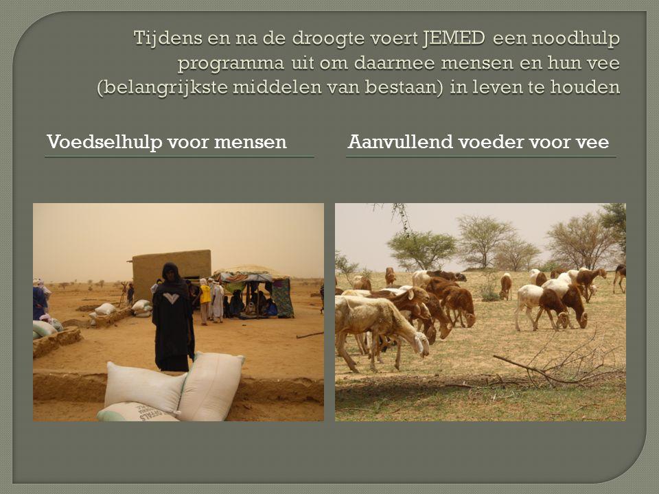 Voedselhulp voor mensenAanvullend voeder voor vee