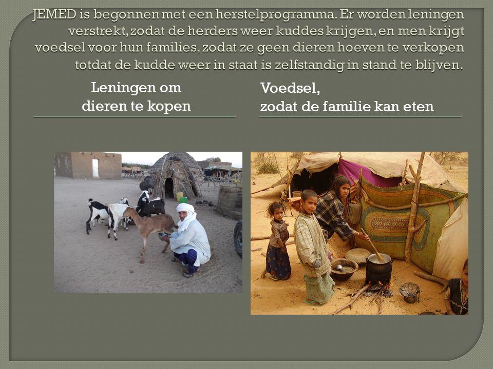 Leningen om dieren te kopen Voedsel, zodat de familie kan eten