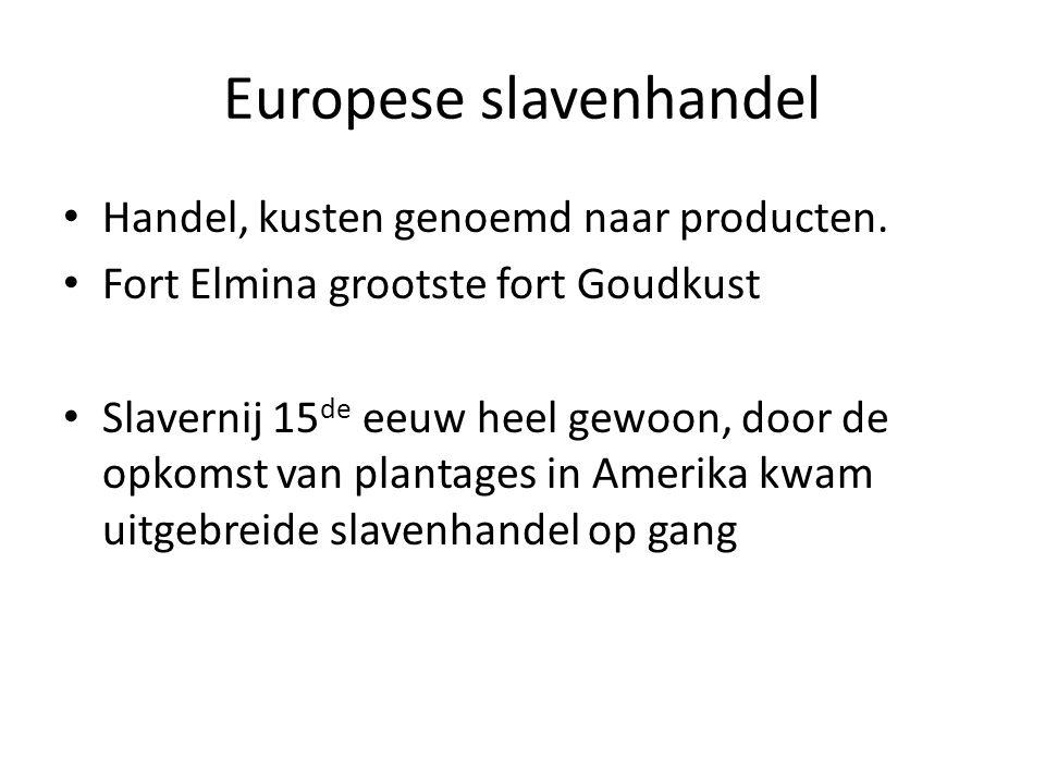 Europese slavenhandel • Handel, kusten genoemd naar producten.