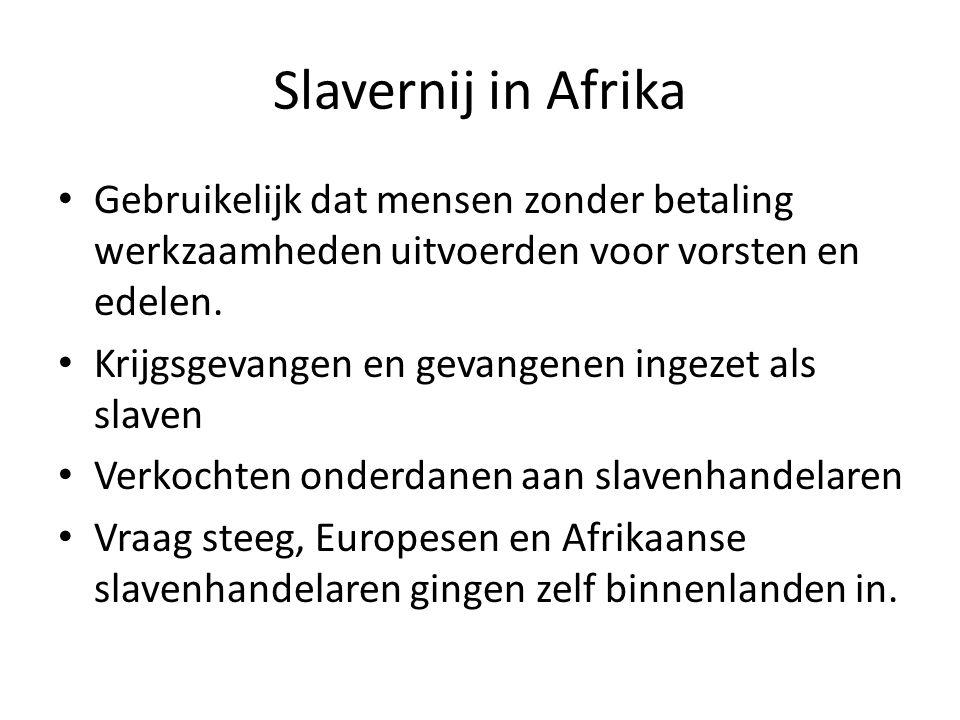 Gevolgen • Jonge mannen en vrouwen • Verandering bevolkingsopbouw • Slavenoorlog leidden tot onrust en onzekerheid • Nadelig voor Afrikaanse landbouw, nijverheid en handel