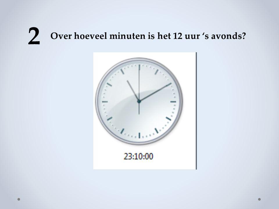2 Over hoeveel minuten is het 12 uur 's avonds?