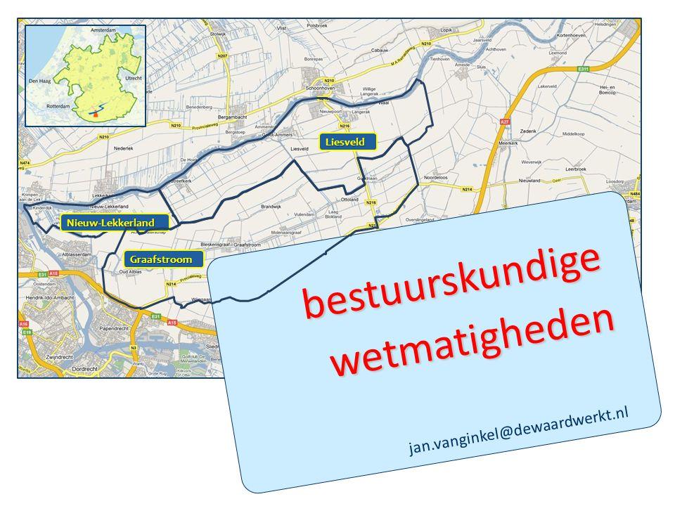jan.vanginkel@dewaardwerkt.nl Nieuw-Lekkerland Graafstroom Liesveld bestuurskundige wetmatigheden
