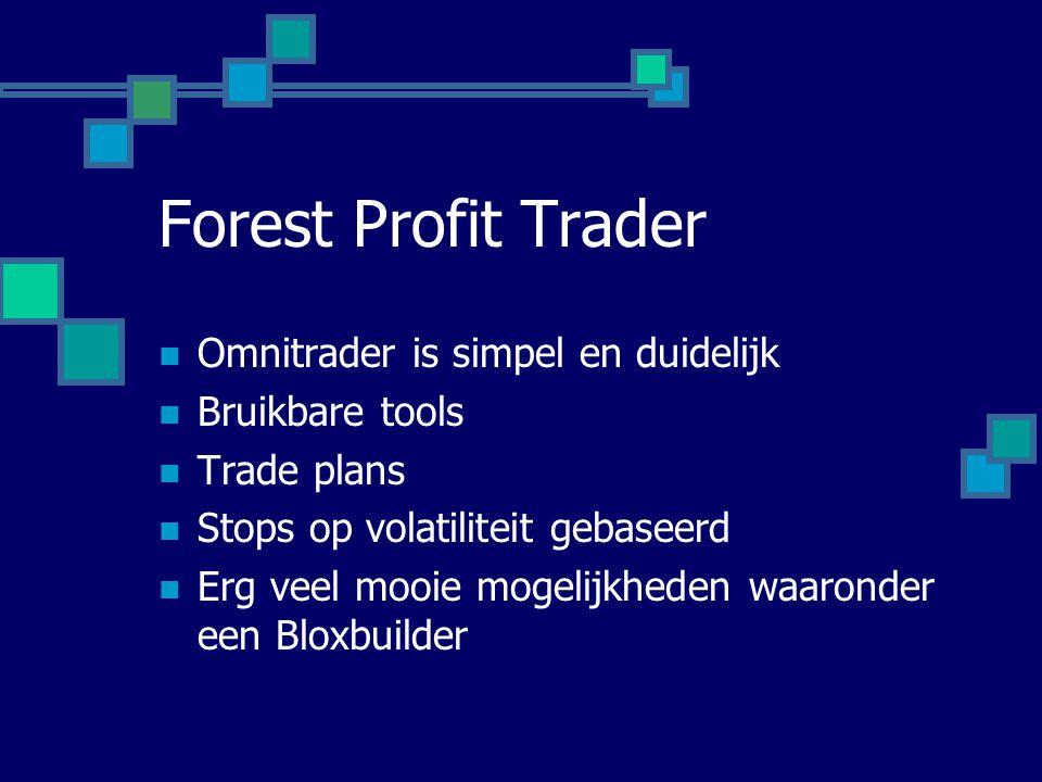  Omnitrader is simpel en duidelijk  Bruikbare tools  Trade plans  Stops op volatiliteit gebaseerd  Erg veel mooie mogelijkheden waaronder een Blo