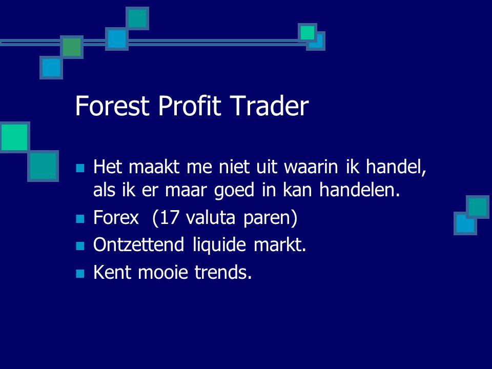 Forest Profit Trader  Het maakt me niet uit waarin ik handel, als ik er maar goed in kan handelen.  Forex (17 valuta paren)  Ontzettend liquide mar