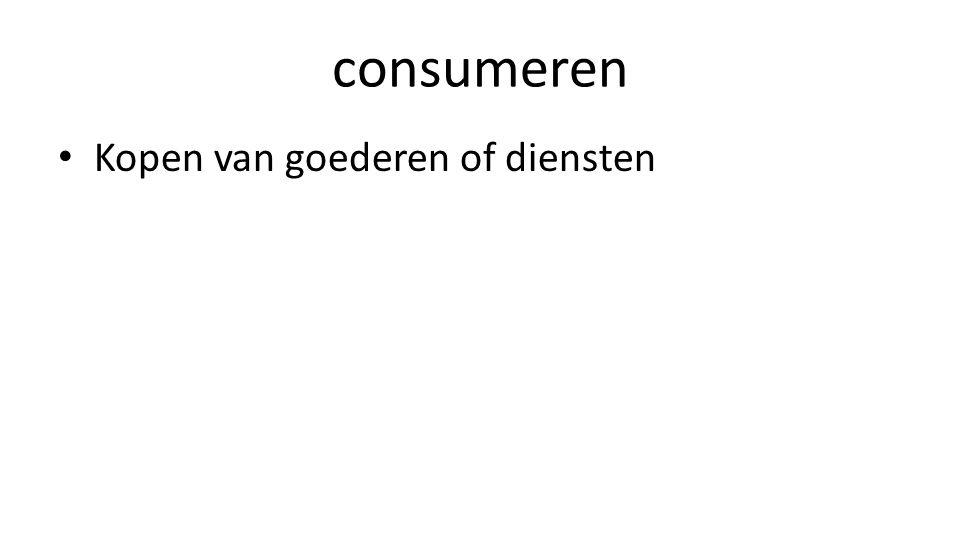 consumeren • Kopen van goederen of diensten
