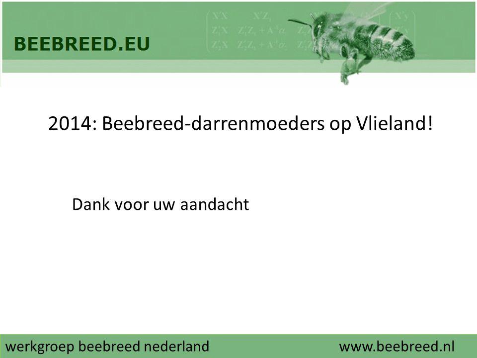 werkgroep beebreed nederlandwww.beebreed.nl 2014: Beebreed-darrenmoeders op Vlieland! Dank voor uw aandacht