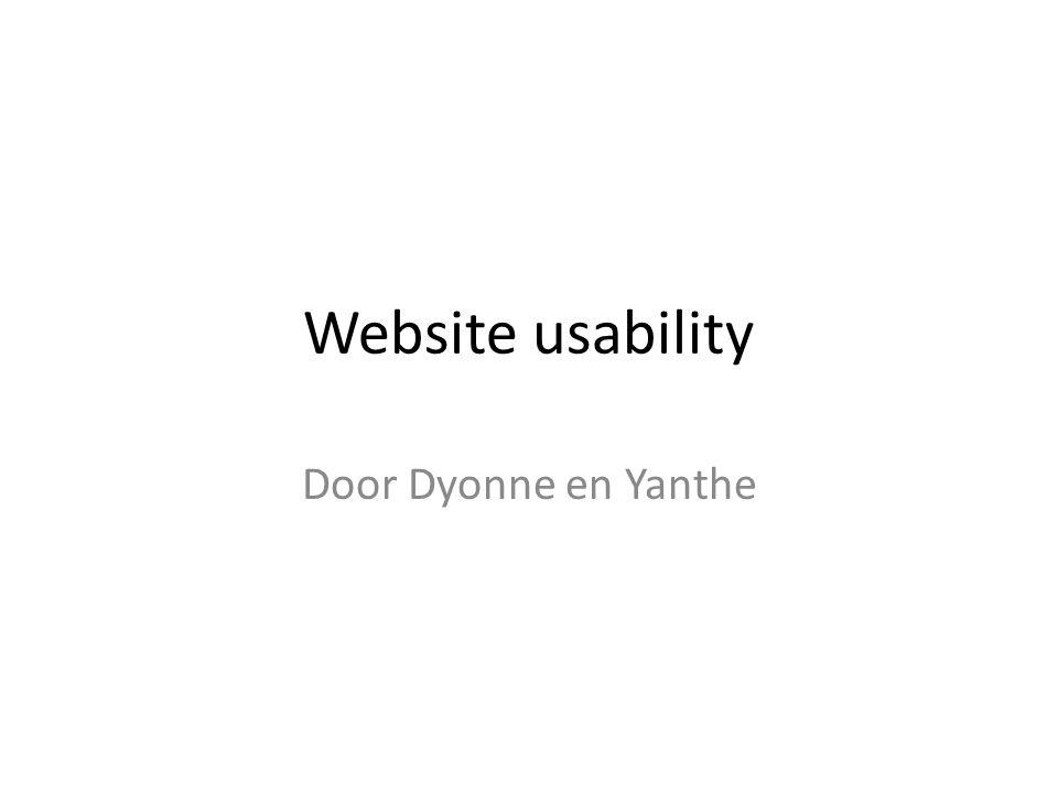 Website usability Door Dyonne en Yanthe