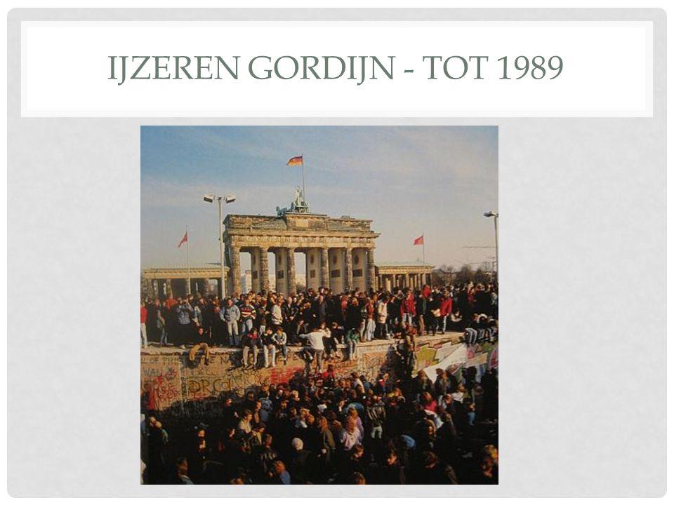 IJZEREN GORDIJN - TOT 1989