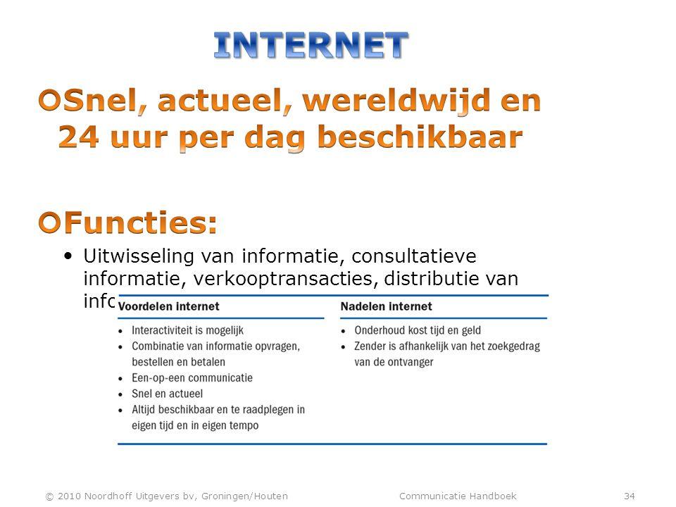 © 2010 Noordhoff Uitgevers bv, Groningen/Houten Communicatie Handboek 34