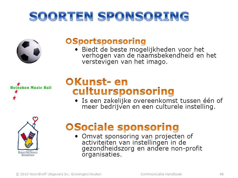 © 2010 Noordhoff Uitgevers bv, Groningen/Houten Communicatie Handboek 48