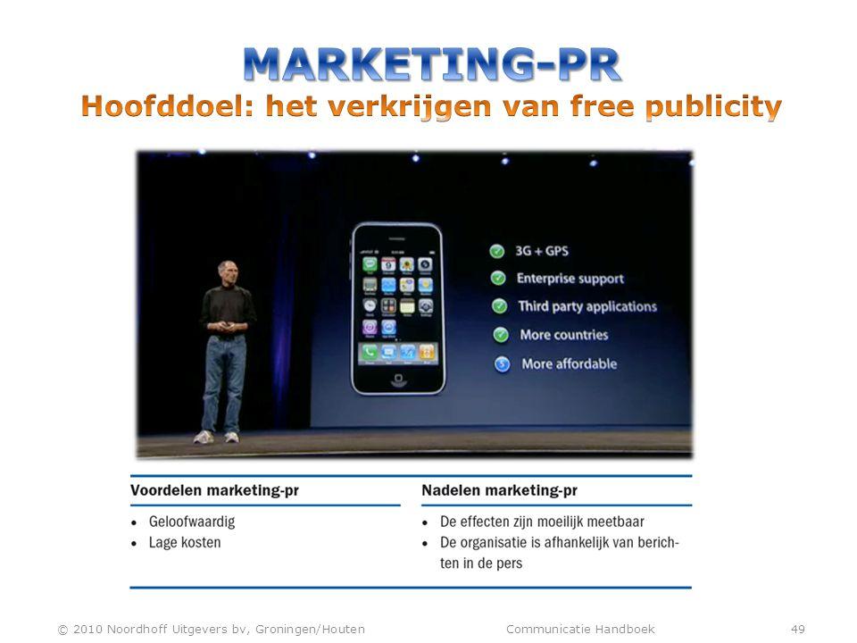 © 2010 Noordhoff Uitgevers bv, Groningen/Houten Communicatie Handboek 49