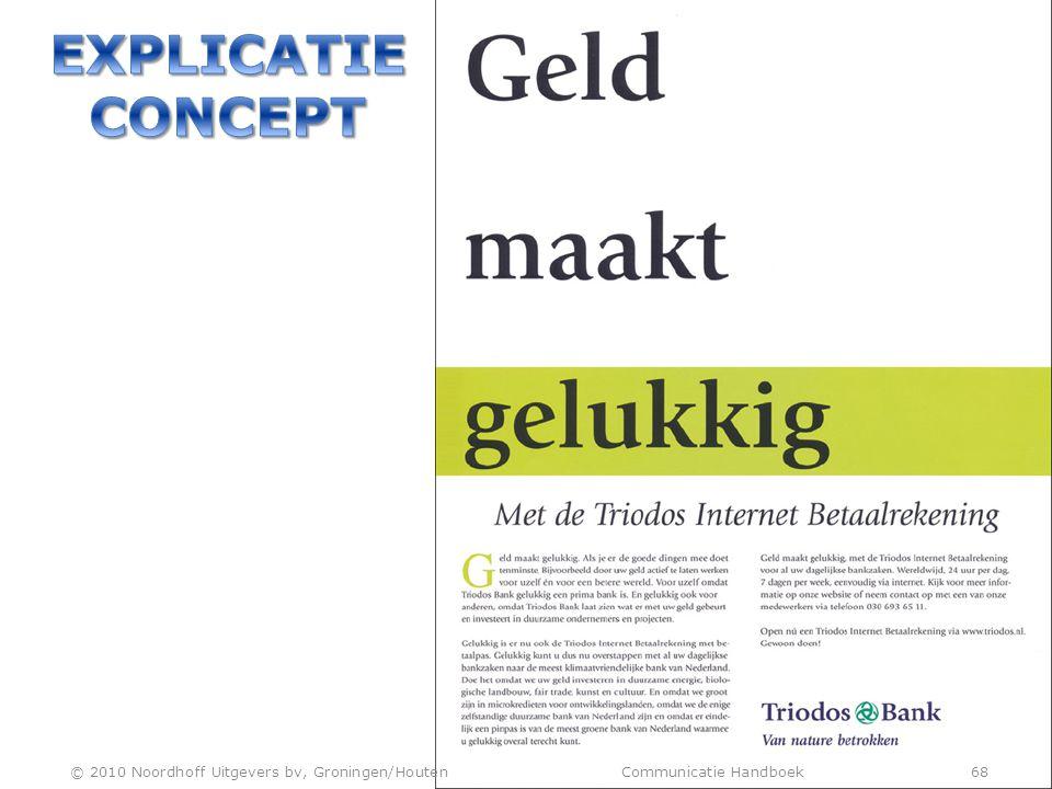 © 2010 Noordhoff Uitgevers bv, Groningen/Houten Communicatie Handboek 68