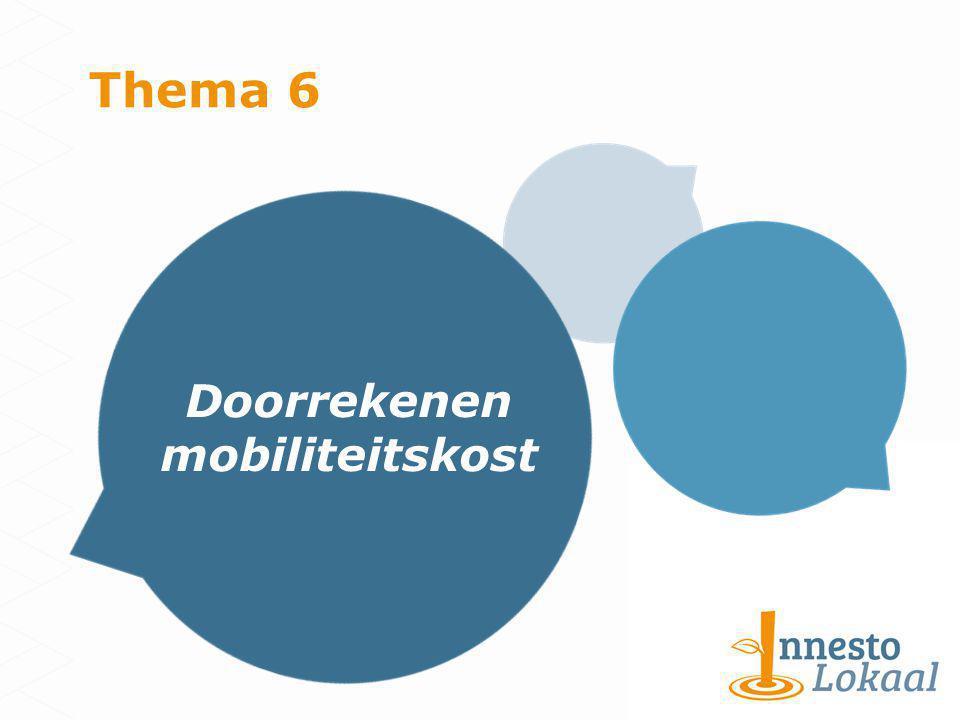 Thema 6 Doorrekenen mobiliteitskost