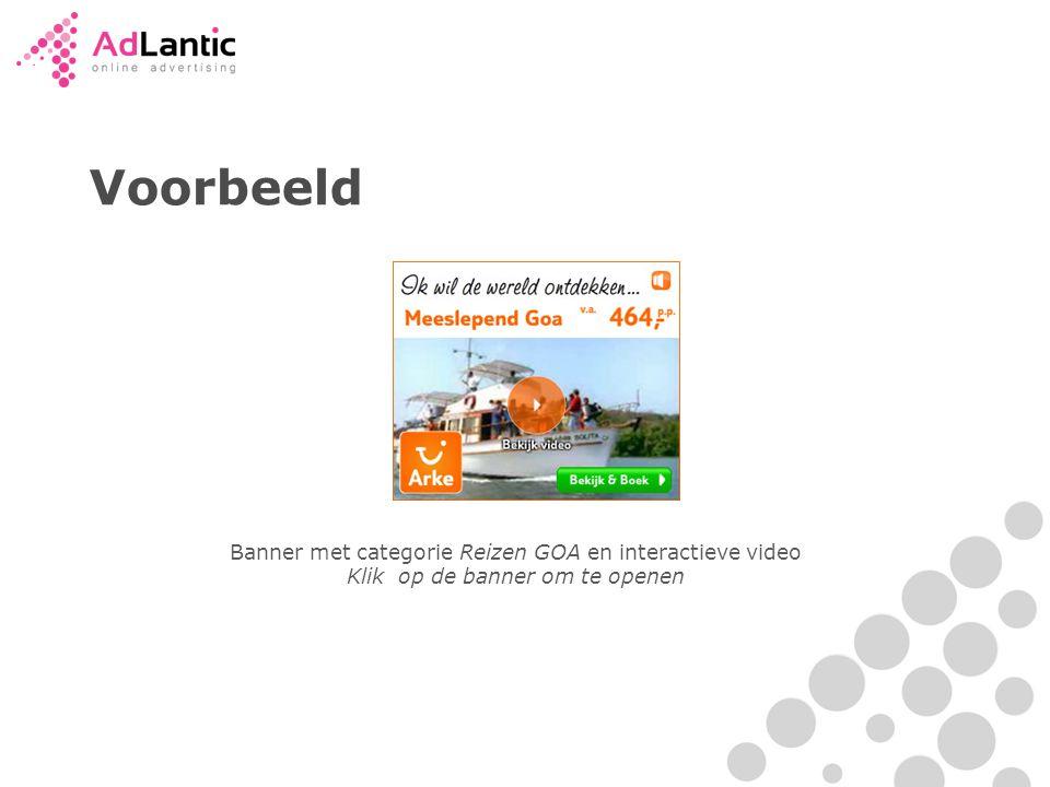 Voorbeeld Banner met categorie Reizen GOA en interactieve video Klik op de banner om te openen
