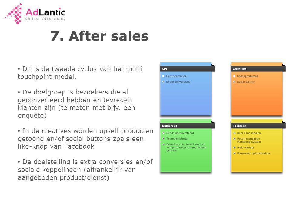 7.After sales • Dit is de tweede cyclus van het multi touchpoint-model.