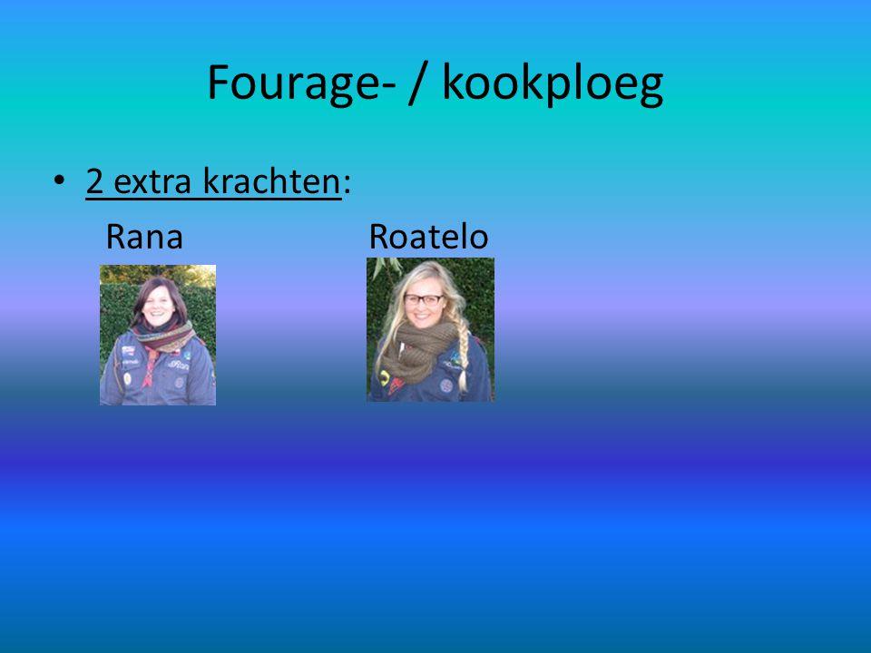 Fourage- / kookploeg • 2 extra krachten: Rana Roatelo