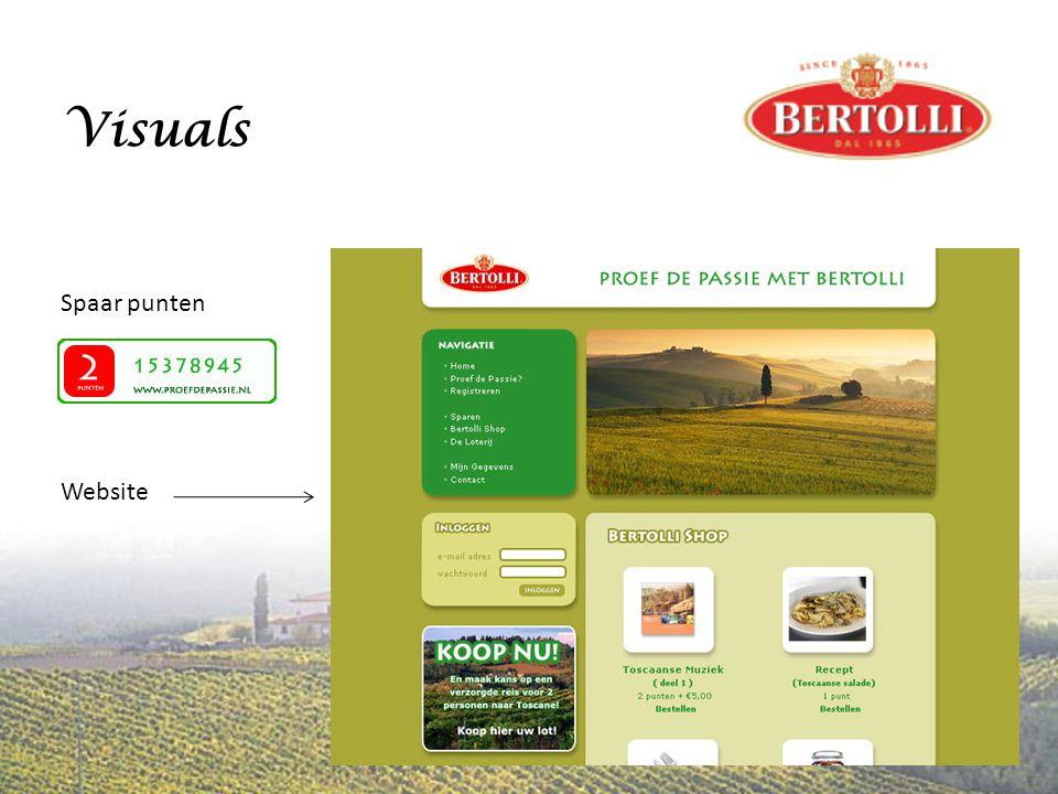 Visuals Spaar punten Website