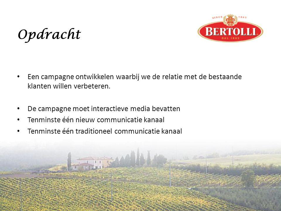 Opdracht • Een campagne ontwikkelen waarbij we de relatie met de bestaande klanten willen verbeteren.