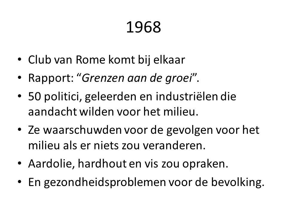 1968 • Club van Rome komt bij elkaar • Rapport: Grenzen aan de groei .