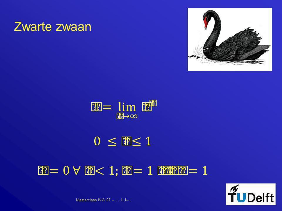 Masterclass IVW 07      Zwarte zwaan