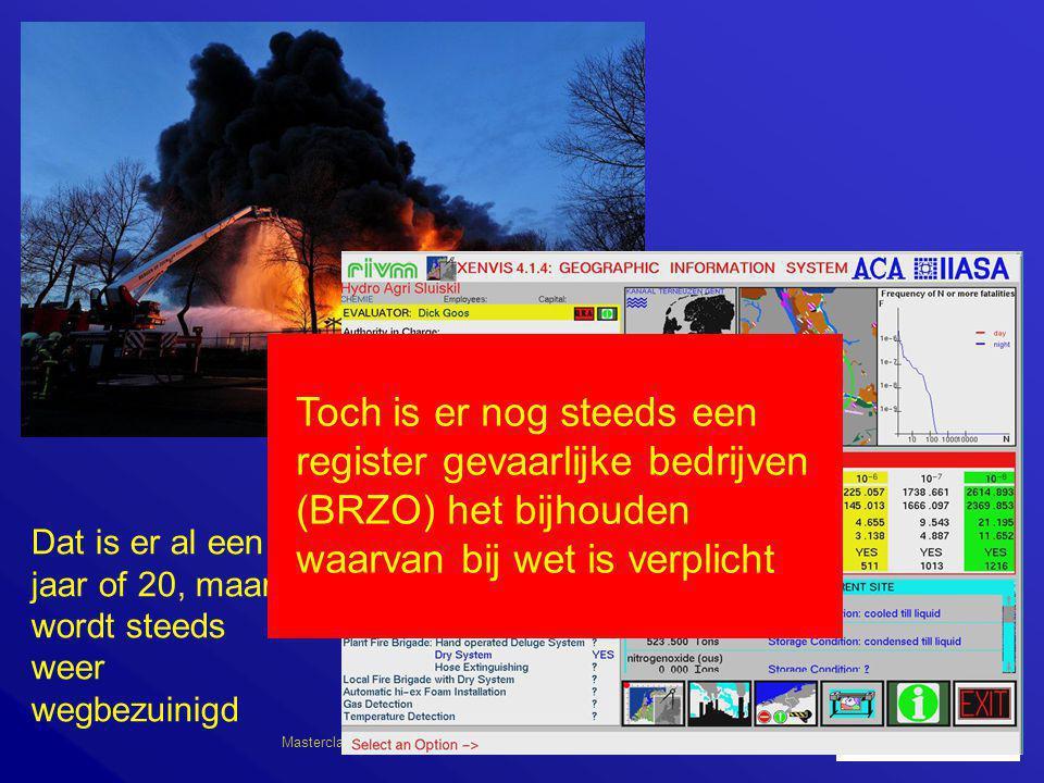 Masterclass IVW 07      ATSMA: Er zij een landelijk informatiesysteem voor BRZO bedrijven Dat is er al een jaar of 20, maar wordt ste