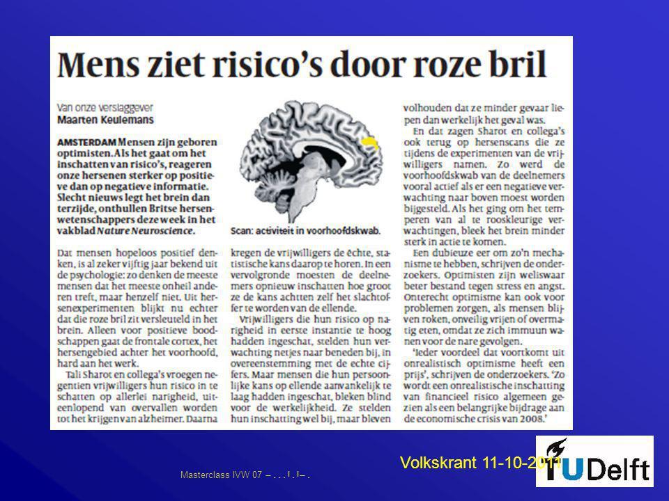 Masterclass IVW 07      Volkskrant 11-10-2011