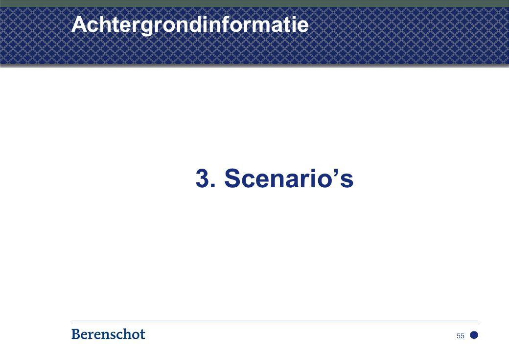 Achtergrondinformatie 3. Scenario's 55