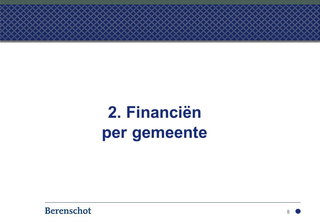 2. Financiën per gemeente 8