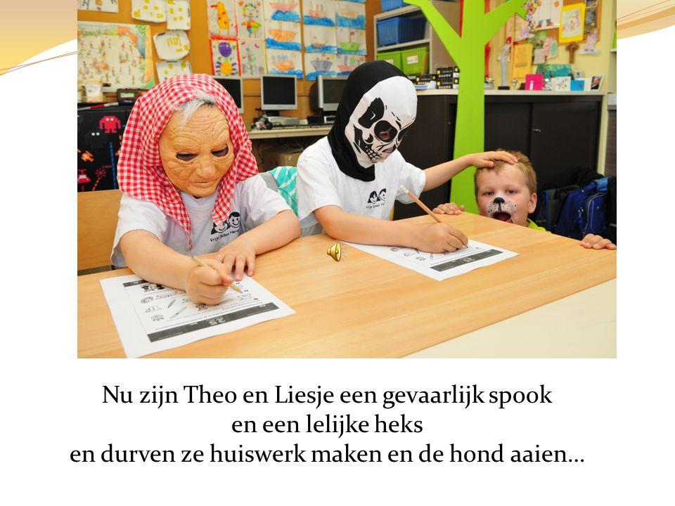 Op een dag maken Liesje en Theo hun spaarpot leeg. Dapper gaan ze een enge winkel binnen… … en kopen ze een griezelig masker.