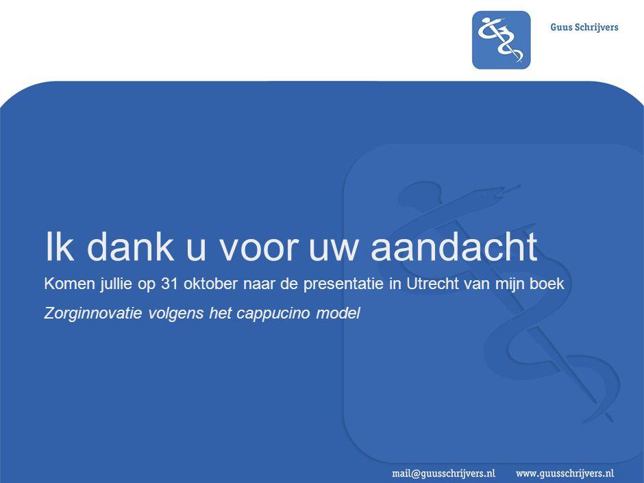 Komen jullie op 31 oktober naar de presentatie in Utrecht van mijn boek Zorginnovatie volgens het cappucino model