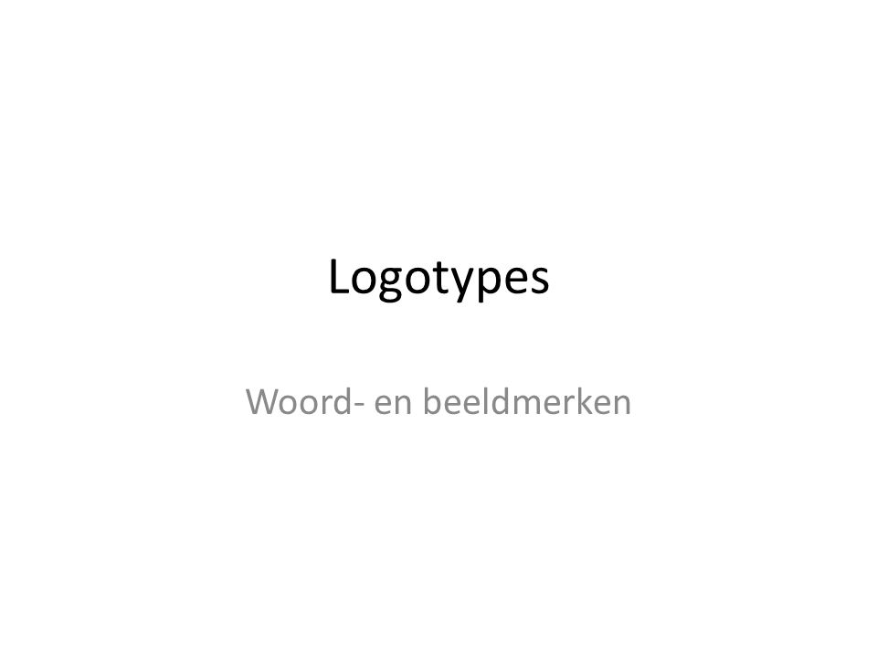 Logotypes Woord- en beeldmerken