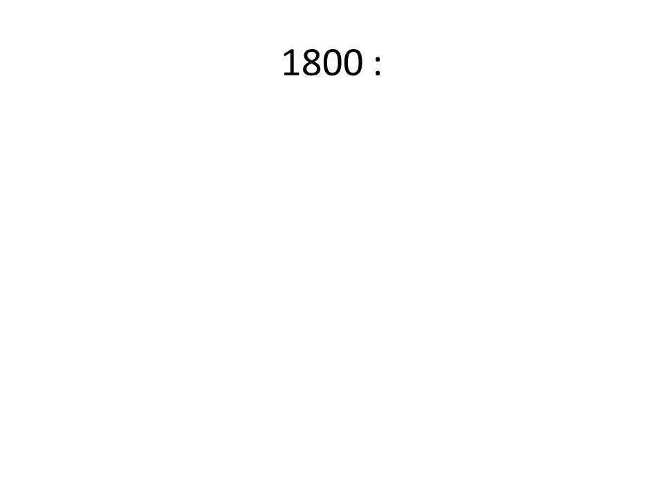 1800 :