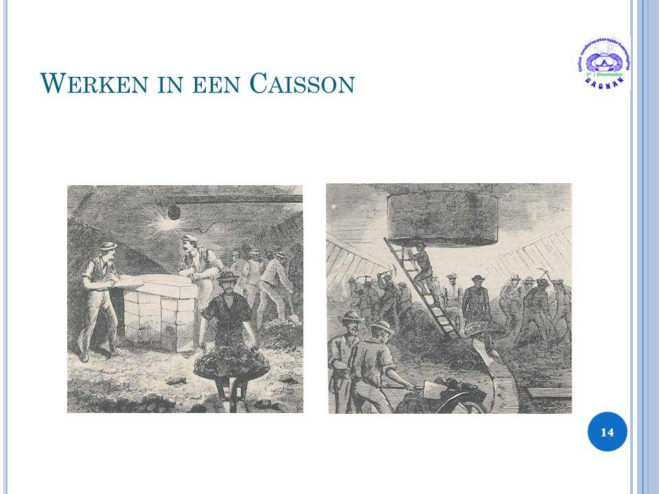 W ERKEN IN EEN C AISSON 14
