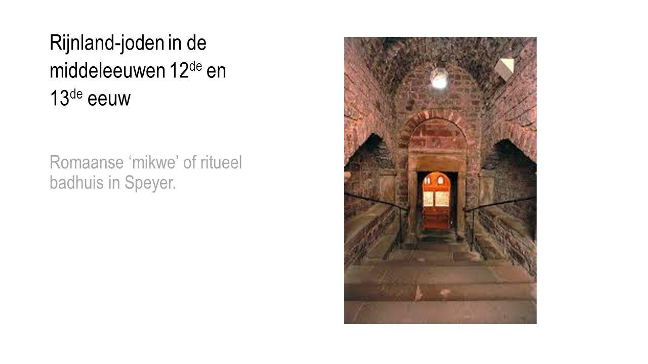 Rijnland-joden in de middeleeuwen 12 de en 13 de eeuw Romaanse 'mikwe' of ritueel badhuis in Speyer.