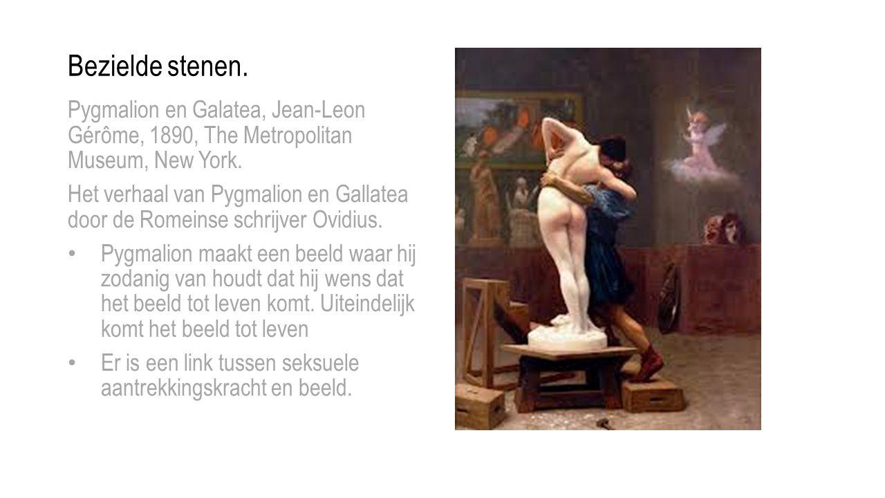 Bezielde stenen.Pygmalion en Galatea, Jean-Leon Gérôme, 1890, The Metropolitan Museum, New York.