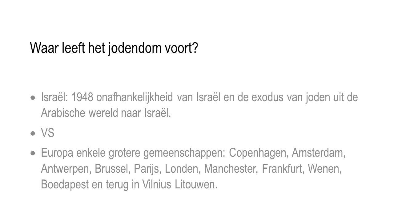 Waar leeft het jodendom voort.