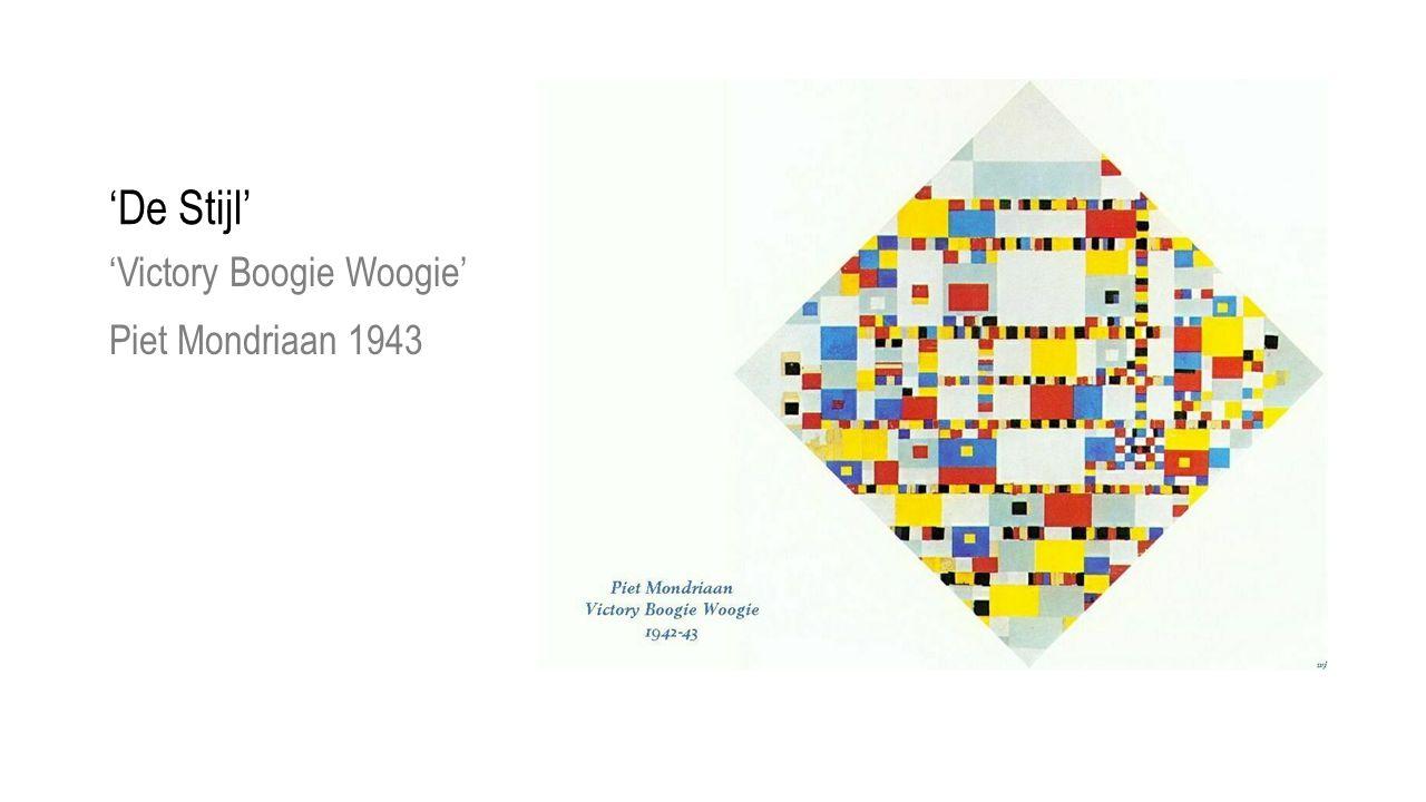 'De Stijl' 'Victory Boogie Woogie' Piet Mondriaan 1943