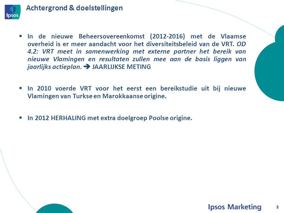 Achtergrond & doelstellingen 3  In de nieuwe Beheersovereenkomst (2012-2016) met de Vlaamse overheid is er meer aandacht voor het diversiteitsbeleid van de VRT.