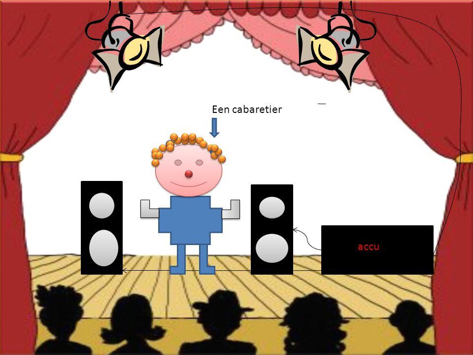Een cabaretier