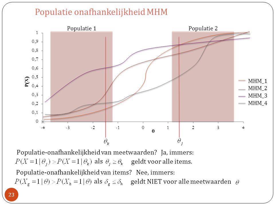 Populatie-onafhankelijkheid van meetwaarden.Ja, immers: geldt voor alle items.