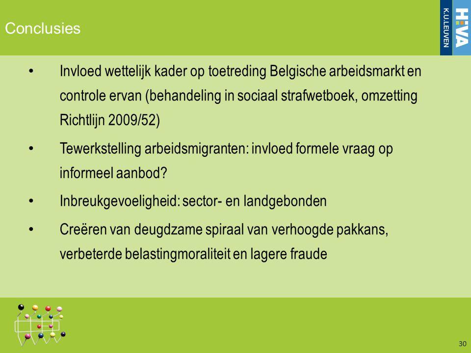 • Invloed wettelijk kader op toetreding Belgische arbeidsmarkt en controle ervan (behandeling in sociaal strafwetboek, omzetting Richtlijn 2009/52) • Tewerkstelling arbeidsmigranten: invloed formele vraag op informeel aanbod.